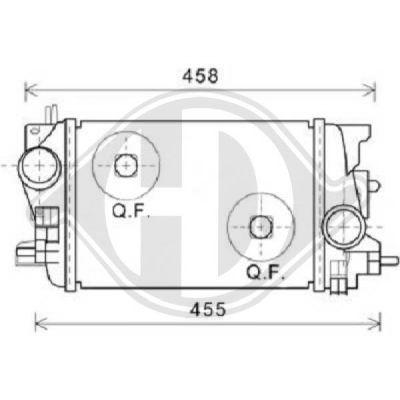 Intercooler, échangeur - Diederichs Germany - 8187609