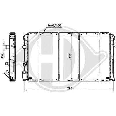Radiateur, refroidissement du moteur - Diederichs Germany - 8188500