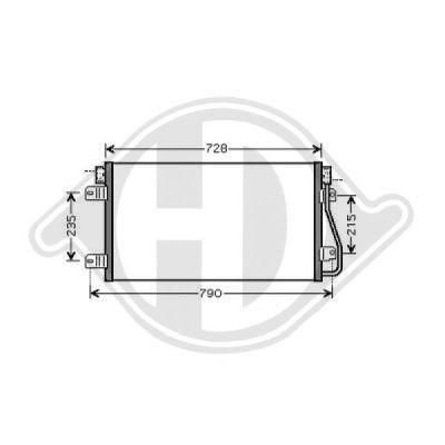 Condenseur, climatisation - Diederichs Germany - 8188503