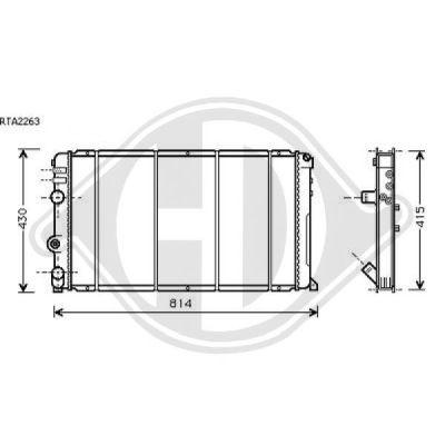 Radiateur, refroidissement du moteur - HDK-Germany - 77HDK8188506