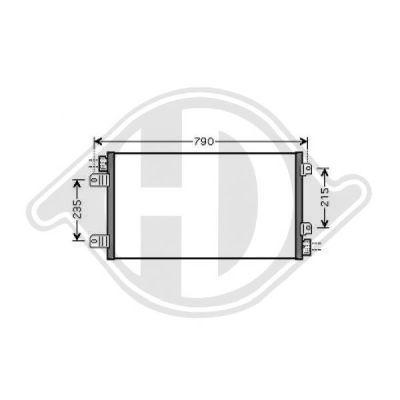 Condenseur, climatisation - Diederichs Germany - 8188600