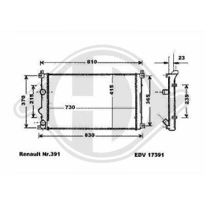 Radiateur, refroidissement du moteur - Diederichs Germany - 8188602
