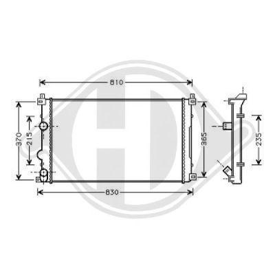 Radiateur, refroidissement du moteur - Diederichs Germany - 8188605