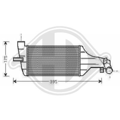 Intercooler, échangeur - Diederichs Germany - 8189000