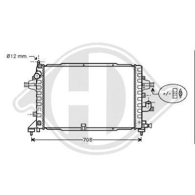 Radiateur, refroidissement du moteur - Diederichs Germany - 8189101