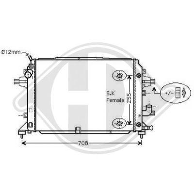 Radiateur, refroidissement du moteur - Diederichs Germany - 8189105