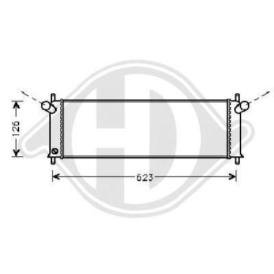 Radiateur, refroidissement du moteur - Diederichs Germany - 8200010