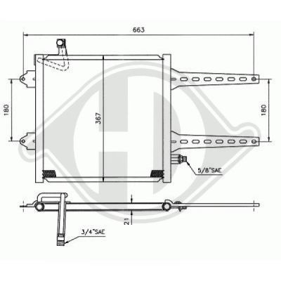 Condenseur, climatisation - Diederichs Germany - 8220300