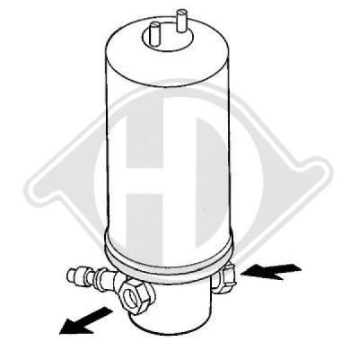 Filtre déshydratant, climatisation - Diederichs Germany - 8220301