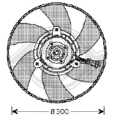 Ventilateur, refroidissement du moteur - Diederichs Germany - 8220302
