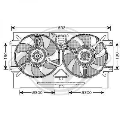 Ventilateur, refroidissement du moteur - Diederichs Germany - 8220303