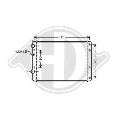 Radiateur, refroidissement du moteur - Diederichs Germany - 8220405