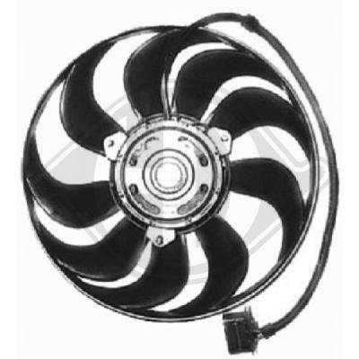 Ventilateur, refroidissement du moteur - Diederichs Germany - 8220501