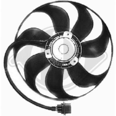 Ventilateur, refroidissement du moteur - Diederichs Germany - 8220502