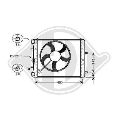 Radiateur, refroidissement du moteur - HDK-Germany - 77HDK8220505