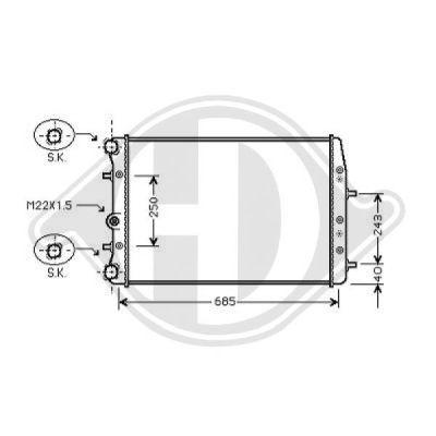 Radiateur, refroidissement du moteur - Diederichs Germany - 8220515