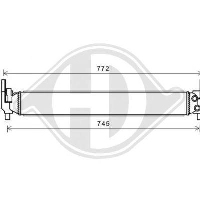 Radiateur, refroidissement du moteur - Diederichs Germany - 8220605