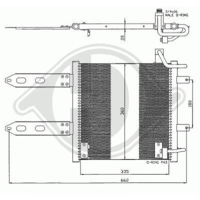 Condenseur, climatisation - Diederichs Germany - 8220800