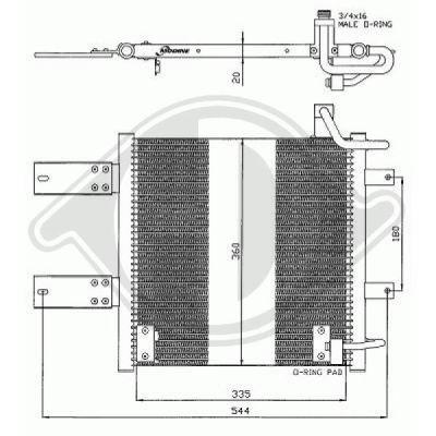 Condenseur, climatisation - Diederichs Germany - 8220801