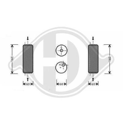 Filtre déshydratant, climatisation - Diederichs Germany - 8221301