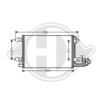 Condenseur, climatisation - Diederichs Germany - 8221400