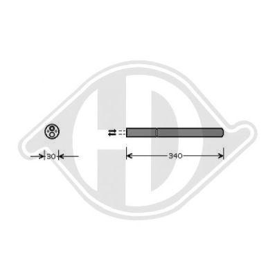Filtre déshydratant, climatisation - Diederichs Germany - 8221401