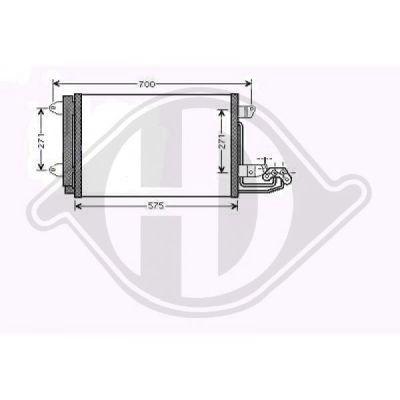 Condenseur, climatisation - Diederichs Germany - 8221402