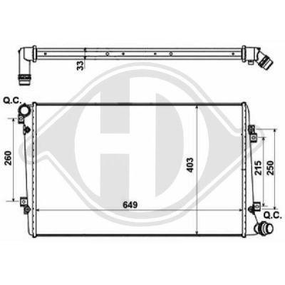 Radiateur, refroidissement du moteur - Diederichs Germany - 8221403