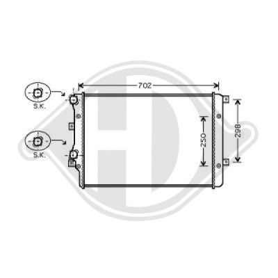 Radiateur, refroidissement du moteur - HDK-Germany - 77HDK8221405