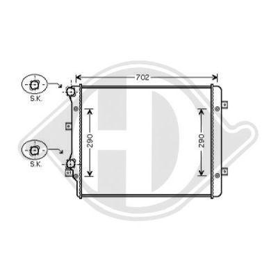 Radiateur, refroidissement du moteur - Diederichs Germany - 8221406