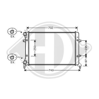 Radiateur, refroidissement du moteur - Diederichs Germany - 8221407