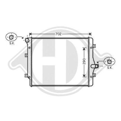 Radiateur, refroidissement du moteur - Diederichs Germany - 8221408