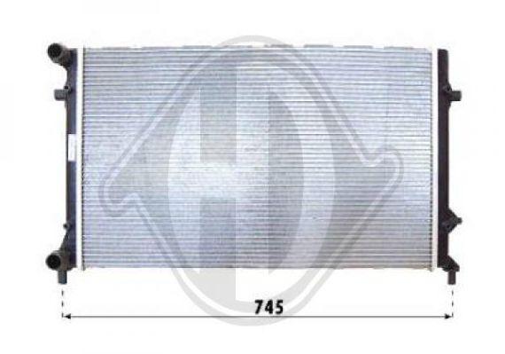 Radiateur, refroidissement du moteur - Diederichs Germany - 8221409