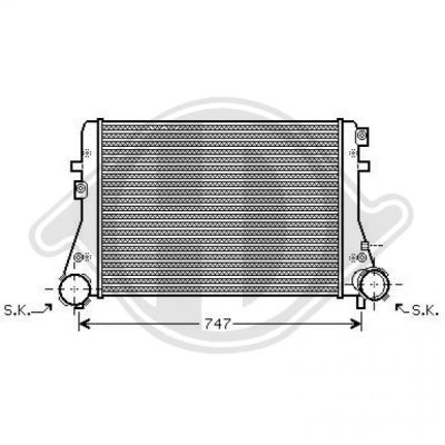 Intercooler, échangeur - Diederichs Germany - 8221410