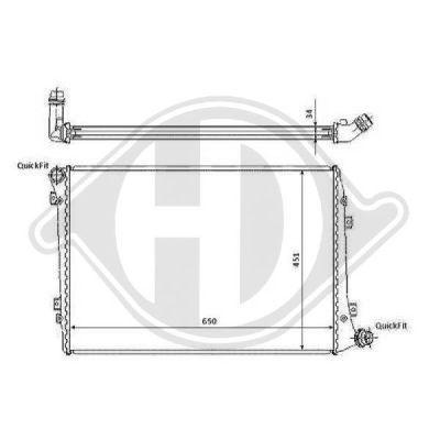 Radiateur, refroidissement du moteur - Diederichs Germany - 8221412