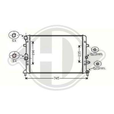 Radiateur, refroidissement du moteur - Diederichs Germany - 8221504