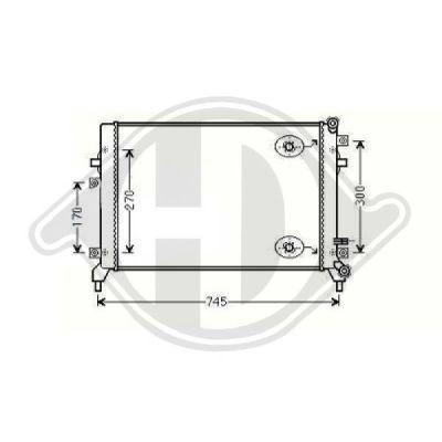 Radiateur, refroidissement du moteur - Diederichs Germany - 8221505