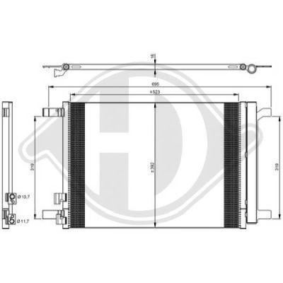 Condenseur, climatisation - Diederichs Germany - 8221600