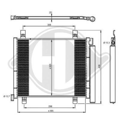 Condenseur, climatisation - Diederichs Germany - 8223600