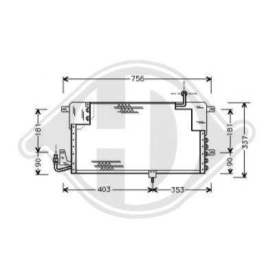 Condenseur, climatisation - HDK-Germany - 77HDK8224300