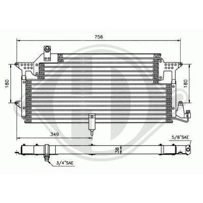 Condenseur, climatisation - Diederichs Germany - 8224301
