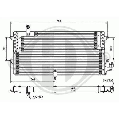 Condenseur, climatisation - Diederichs Germany - 8224302
