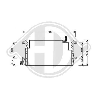 Condenseur, climatisation - Diederichs Germany - 8224400