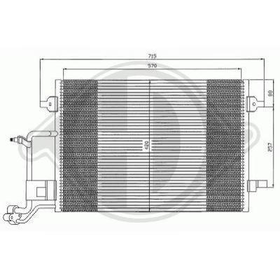 Condenseur, climatisation - Diederichs Germany - 8224502