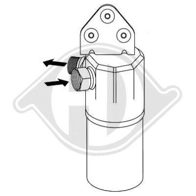 Filtre déshydratant, climatisation - Diederichs Germany - 8224504