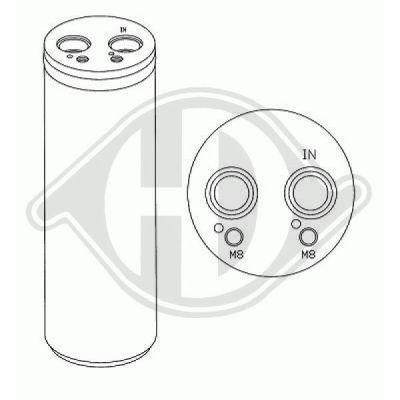 Filtre déshydratant, climatisation - Diederichs Germany - 8224601