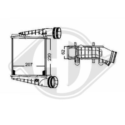 Intercooler, échangeur - Diederichs Germany - 8224606