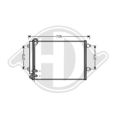 Condenseur, climatisation - Diederichs Germany - 8224700