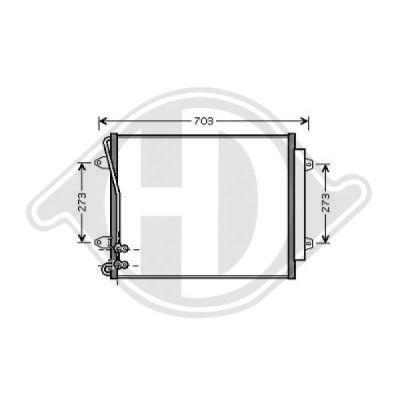 Condenseur, climatisation - Diederichs Germany - 8224701