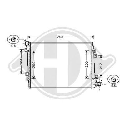 Radiateur, refroidissement du moteur - Diederichs Germany - 8224704